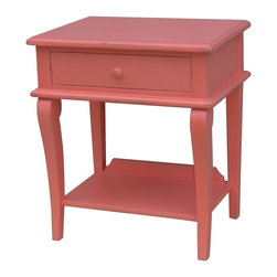 EuroLux Home - New Side Table Pink Painted Hardwood - Product Details