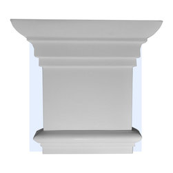 """Inviting Home - Memphis Capital - capital for pilaster 8-1/8""""W x 7-7/8""""H x 2""""D bottom is 5-3/8""""W x 3/4""""D This outstanding quality capital made from high density polyurethane factory primed. This capital is lightweight durable and easy to install using common woodworking tools. Capital for pilasters can be finished with any quality paints."""