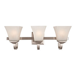 DHI CORP - Design House 514760 Torino 3-Light Vanity Light - Satin Nickel Finish Multicolor - Shop for Bathroom Lighting from Hayneedle.com! The satin-nickel finish of the Design House 514760 Torino 3-Light Vanity Light - Satin Nickel Finish glows softly in its light. Made from durable formed steel this vanity light has elegant charm and can be mounted either up or down to suit your preference.About DHI CorpDHI Corp has committed itself toward providing its customers with a selection of carefully crafted high-quality products for the home and garden. With both consumer and trade markets in mind the company features domestic offices based in Mequon Wisconsin and a satellite office located in Asia. With design influences and the finest craftsmen and factories from around the globe under their employ DHI Corp has made itself a brand you can trust. Whether you need faucets fans hardware or more DHI has you covered.