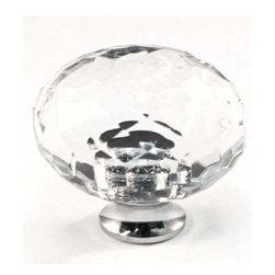 Cal Crystal - Cal Crystal Round Crystal Knob Solid Brass Base - Cal Crystal Round Crystal Knob Solid Brass Base (Choice Of Base )