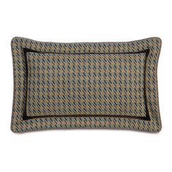 Powell Bolster - Let Powell bring a touch of its soft tradition to your décor. Both light and masculine, its paisleys and houndstooth are interwoven with mocha and spa blue tones; decorative pillows and accessories are embellished with subtle trim and button detailing.