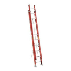 Werner D6220-2 20 ft. Fiberglass Extension Ladder - Ideal for a variety of high reaching tasks, the Werner D6220-2 20 ft. Fiberglass Extension Ladder offers the stability and safety you demand. This ladder is constructed of heavy duty fiberglass and offers a 300-pound duty rating. It offers a working height of 17 feet and a heavy duty pulley system for a smooth extension. It also features direct rung to rail connections, slip-resistant Traction-Tred D-rungs, and pre-pierced holes for easy field installation of accessories. A durable rail shield bracket and Shur-Lok slip-resistant pad and spur plate ensure a secure and stable footing at the base.About WernerWerner is an industry leader that has manufactured and distributed ladders and climbing equipment for over 60 years. Werner ladders are found on more trucks and job sites than all other brands combined. Each product offers a state-of-the-art design and manufacturing process, creating professional-grade products that are made to be utilized in the home as well as on the job site. Werner Co. products are built to meet or exceed all applicable American National Standards Institute (ANSI) and Occupational Safety and Health Administration (OSHA) code requirements.