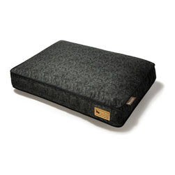 P.L.A.Y. - Rectangular Bed - Frolic - Black - L - Rectangular pet bed (Large) Frolic design from the Original Collection (Mystic Black); 100% natural cotton cover; 100% machine washable; eco-friendly and durable construction.
