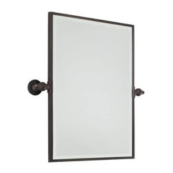 """Minka Lavery - Minka Lavery 1440-267 24"""" Rectangle Mirror in Dark Brushed Bronze 1440-267 - Rectangle Mirror in Dark Brushed Bronze.ADA Compliant: Yes Energy Star Compliant: No Extension: 3-1 4 Finish: Dark Brushed Bronze Height: 24 Installation Type: Wall Mounted Lighted: No Rooms: Bathroom, Bedroom, Dining Room, Family Room, Foyer, Living Room, Office Shape: Rectangle Style: Traditional Weight: 17.6 Width: 18"""