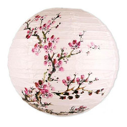 Oriental-Décor - Exploding Blossoms Lantern - Inspire yourself with the beauty of Japans cherry blossoms. Now, you can capture the exquisite loveliness of a thousand cherry blooms with the Exploding Blossoms Lantern. There is no need to travel to the Land of the Rising Sun if you have several pieces of the Exploding Blossoms Lantern gracing your balcony, patio or garden. With the option of getting a cord, you can use this lantern to brighten up outdoor parties during the warmer months. And what better way to commemorate the short but sweet lifespan of these delicate cherry blossoms than to use them as the central theme for a spring garden dinner? Hang them on low branches of trees so guests can feel like there are surrounded by cherry trees. But when the weather is less than desirable, simply use the shade to add a feminine vibe for a little girls bedroom. This versatile beauty proves that there is more to this lantern than meets the eye.  Lamp shade only -- optional lighting kits are available. Choose from:  - Battery powered light