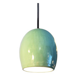 Hammers & Heels - Clay Celadon Ceramic Pendant Light - THE CELADON CLAY PENDANT LIGHT BRINGS TEXTURE TO ANY ROOM.