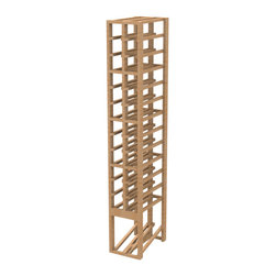 EcoWineracks 2 Column Upper Display Rack, Natural Color, Clear Acrylic Finish - EcoWineracks are the worlds only traditional style wine racks made from non-forested and sustainable bamboo. Bamboo is superior to wood in strength and durability, is non-warping and has consistent grain.