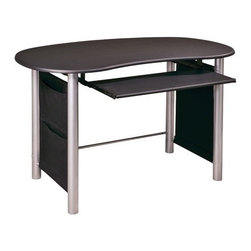 OSP Designs - Computer Desk in Hi-Tech - Features: -Computer desk.-Multi-media computer desk.-Powder coated steel frame.-Pullout keyboard tray.-Side magazine pocket.-Easy to assemble.-Distressed: No.Dimensions: -Dimensions: 30'' H x 47.75'' W x 27.5'' D.-Overall Product Weight: 50 lbs.