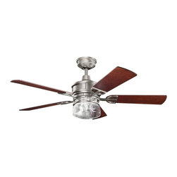 Kichler - Three Light Antique Pewter Ceiling Fan - This Three Light Ceiling Fan is part of the Lyndon Collection and has an Antique Pewter Finish.