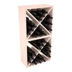 """Wine Racks America - 48 Bottle Wine Cube Collection in Ponderosa Pine, White Wash Stain - Two versatile 24 bottle wine cubes. Perfect for nooks, crannies, and converting that """"underneath"""" space into wine storage. Mix and match finishes for a modern wine rack twist. Popular for its quick and easy assembly, this wine rack kit is a perfect storage solution for beginners and experts."""