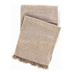 Linen Chenille Throw - I rarely see linen throws, but I love the idea. They speak of luxury and simpler times.