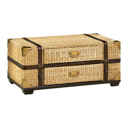 Hammary - Hammary Boracay Trunk Cocktail Table - Trunk Cocktail Table belongs to Boracay Collection by Hammary This distinctive rectangular cocktail table adds smart centerpiece display to the living room in your home. Featuring a stone top as well as a patterned lattice style side design, this table is as fashionable as it is functional. Pair this piece with the coordinating end table and round end pedestal table to complete the look in your home.  Cocktail Table (1)