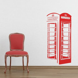 Binary Box - London Phone Box Wall Sticker - London calling! The first red telephone box appeared in London in 1924, and since then it has become an internationally-recognised icon of British fashion and style. Be part of that long tradition by getting one of these wall stickers for your home. The London Phone Box Wall Sticker brings a hint of retro flare to modern décor and ensures that no matter where in the world you live you'll always be connected to the London line!