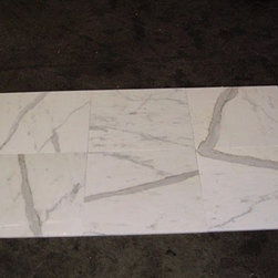 "Calacatta Gold Marble Polished Floor Tiles 18"" x 18'' - 18"" x 18"" x .6 in. thickness Calacatta Gold Marble Floor Tiles. Please Note that We currently ship via common carriers for residential and commercial shipments."
