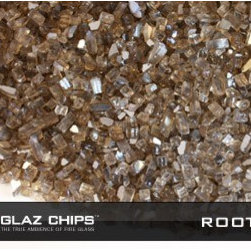 1/4 Inch Rootbeer Reflective Fireglass (10lbs.) - Providing a coppery sheen when gas flames are burning, Rootbeer Reflective Fireglass from Glaz Chips will make your next indoor or outdoor gas fire special.
