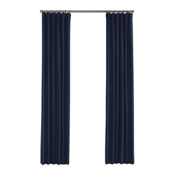 Loom Decor - Navy Structured Linen Custom Drapery, Single Panel - Put a ring on it. Literally. Our Convertible Ring-Top Drapery not only works with any aesthetic, it can also be styled as a rod pocket or a casual style simply by eliminating rings. Now that's happily ever after.