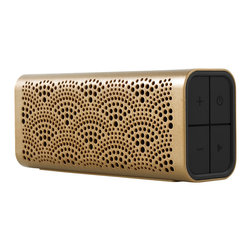 Braven - Braven LUX , Gold - Built to last, the sleek, palm-sized Braven LUX Speaker is IPX5 certified water-resistant so it can be taken virtually anywhere life takes you. The speaker's 12+ hours of wireless playtime and built-in power bank make it an incredible blend of fun and function. For a powerful, immersive left and right stereo experience with even bigger sound, pair any two Braven 7-Series speakers together using Braven's highly-acclaimed TrueWireless™ Technology.