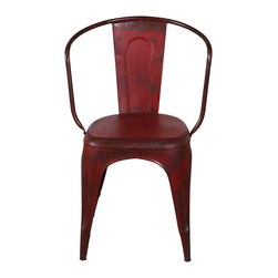 Miller Metal Chair - Rusty Red - *Finish: Painted