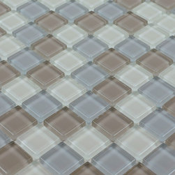 Glass Mosaic Tile - Product Description:Item#: COB0116Collection: Crystal Glass TileColor: Color Blend(Brown, Blue and Yellow)Surface Finish: Glossy GlassShape: SquareChip Size: 1x1 In. (23mm x 23mm)Thickness: 1/4 In. (6mm)Each sheet of this glass tile is approximately 1 sq ft per sheet and is mesh mounted on high quality fiber glass for easy installation of your glass mosaic tile projects.Application: Glass mosaic tiles are impervious to the water, thus it is great for both interior and exterior use so moisture is not an issue. Mosaic glass tiles are great on floors and walls and have been most popular in bathrooms, spas, kitchen backsplash, wall facades and pools as well as a variety of other applications.Characteristics: Glass mosaic tile has a zero water absorption rate, and this tile exceeds ANSI standards for water absorption for mosaic tile. It is strong, durable, contamination free, and only the best quality tiles are selected as our tiles are inspected for blemishes before shipment.