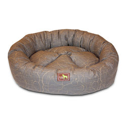 Luca for Dogs - Large Scribble Gray Nest Bed - The Luca Nest takes comfort to a whole new level. 100% washable, with removable covers that unzip for convenient washing. Pillows are generously filled with 100% recycled fiber.