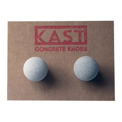 Kast Concrete Knobs - ETIENNE Concrete Cabinet Knob, Light Grey - - Concrete Knob