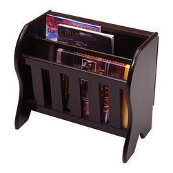 winsome wood winsome wood magazine rack w side flip top in dark espresso this charming. Black Bedroom Furniture Sets. Home Design Ideas
