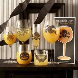 Halloween Spooky Glass Bling - These removable drinkware decals will spruce up your bar essentials in no time.