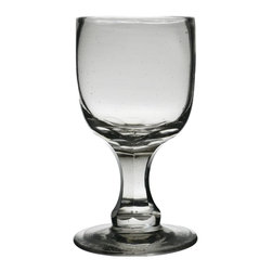 None visible - Consigned English 19th Century Small Wine or Port Glass - Single antique hand blown small wine glass, traditionally used for port, sherry or an aperitif.