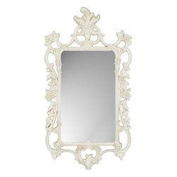 Paragon - White Ornate - Mirrors Decorative - Each product is custom made upon order so there might be small variations from the picture displayed. No two pieces are exactly alike.