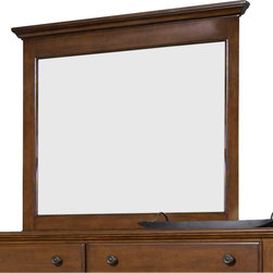 Broyhill - Broyhill Hayden Place Landscape Dresser Mirror in Light Cherry - Broyhill - Mirrors - 4648238 - About This Product: