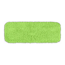 None - Quincy Super Shaggy Lime Green Washable Bath Runner - Jazz up the bathroom, shower room, or spa with a bright note of color while adding comfort you can sink your toes into with the Quincy Super Shaggy bathroom collection. The lime green rug is created from soft, durable, machine-washable nylon.