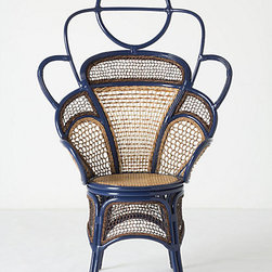 Handwoven Odette Chair, Blue - What a gorgeous chair! It has beautiful lines and the perfect shade of blue.