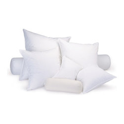 Ogallala Comfort Company - Ogallala Comfort Company 600 Hypo-Blend Bolster Pillow, Queen - Decorative pillows add luxury and comfort to your home. Sink in, relax and enjoy your surroundings, anywhere you are. This Hypodown blend is four parts white goose down and one part Syriaca clusters, a fiber from the milkweed plant. The two work hand in hand to give you the best of their natural abilities: warmth and comfort. Down clusters are the soft fluff under feathers that keep birds comfortable no matter what the climate. In order to measure nature's performance, down is rated by two distinct values, Percent Down Cluster and Fill Power.