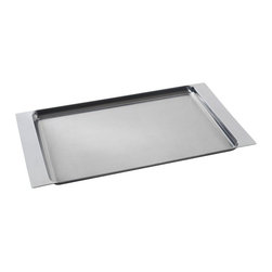 "Alessi - Alessi ""Programma 8"" Tray - Life can be a little like this intuitively designed serving tray: Just grab hold and carry on. Thanks to the tray's extended sides, it gives you the comfort and support you need to go from kitchen to table without a hitch."