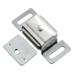 Hickory Hardware - Cadmium Magnetic Catch - Functionalism is the principal that design is based on the purpose of that piece. Hinges, hooks, catches, drawer slides and screws. All designed for a specific purpose and necessary in every home.
