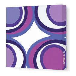 "Avalisa - Imagination - View Stretched Wall Art, 18"" x 18"", Purple -"