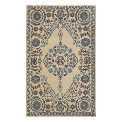 """Dynamic Rugs - Dynamic Rugs Sapphire 4924-199 (Ivory, Grey) 3'6"""" x 5'6"""" Rug - This Hand Tufted rug would make a great addition to any room in the house. The plush feel and durability of this rug will make it a must for your home. Free Shipping - Quick Delivery - Satisfaction Guaranteed"""
