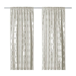 Ninni Rund Pair of Curtains, Light Beige