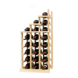 Wine Cellar Innovations - Vintner Series Wine Rack - Waterfall2 Falling Left - The Vintner Series WATERFALL2 Display provides the perfect showcase for the prized wine bottles you would like to show off. Individual bottle wine storage cascades down with a waterfall of display bottles on top. This waterfall option is compatible with the Vintner 3 column individual rack and can be combined with the WATERFALL1 and WATERFALL3 to create a larger cascade. You can have a waterfall display come out from a wall to the center of a room for a dramatic display effect. You may also choose to line a waterfall wine display along a wall. To achieve this unique look, we have a single bottle deep option that we have designed both in a left and right falling option. Product requires assembly. Moldings and platforms sold separately. Assembly required.