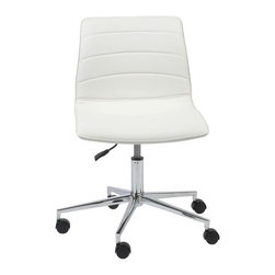Euro Style - Euro Style Ashton Office Chair X-THW71271 - Proof that basics are beautiful. Leatherette over foam is as durable as it is easy to maintain. A five-wheel chromed steel base is practically indestructible and the gas charged height adjustment is smooth and steady. Go ahead and give yourself a lift.
