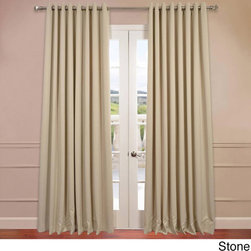 EFF - Extra Wide Thermal Blackout Grommet Top 108-inch Curtain Panel - You will instantly fall in love with these blackout curtains offered in a double-wide fit. Each panel is 100 inches wide,and the fabric is super soft with a refined texture made with a special polyester yarn.