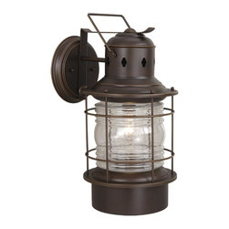 Vaxcel - Nautical Outdoor Burnished Bronze 21.38 Inch Outdoor Wall Light - Dimensions: 10 in. W x 13 in. L x 21.38 in. H.