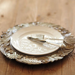 Carved Architectural Charger - These versatile charger plates are festive but aren't tied to one holiday.