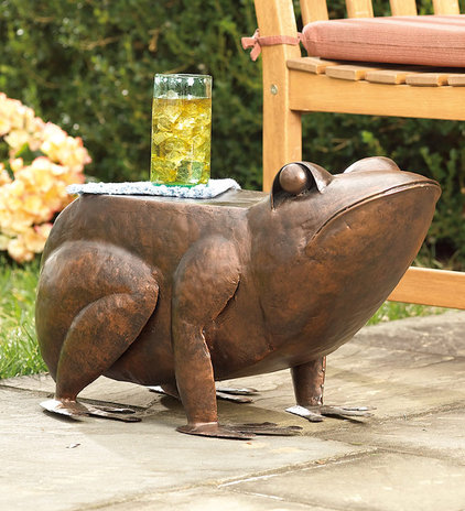 eclectic garden sculptures by Plow &amp; Hearth