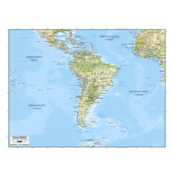 Murals Your Way - South America Wall Art - A map by EGLLC Maps, the South America wall mural from Murals Your Way will add a distinctive touch to any room