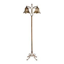 """Dimond Lighting - Hillsboro 2-Light Floor Lamp in Winter Gold - Dimond Lighting D2423 Hillsboro 2-Light Floor Lamp in Winter Gold. 61"""" hillsboro winter gold floor lamp."""