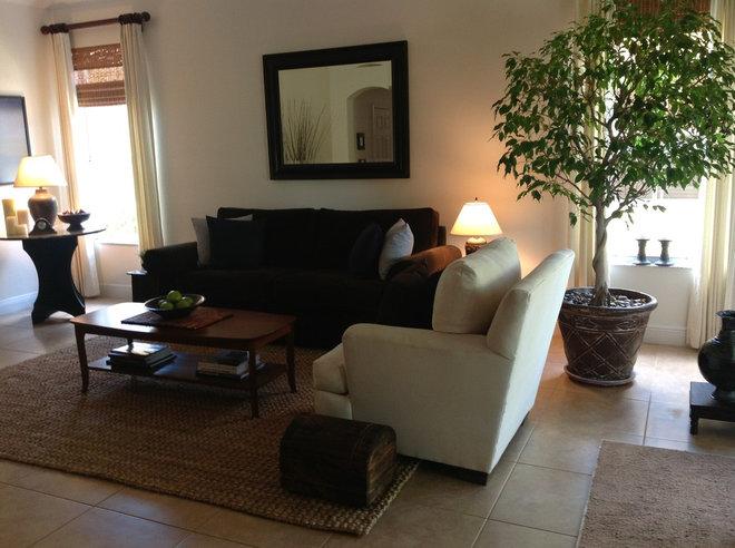 living room , redone