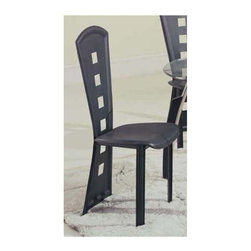 Global Furniture - Side Dining Chair in Black - Made of PVC. 20 in. W x 17 in. D x 42 in. H (12 lbs.)
