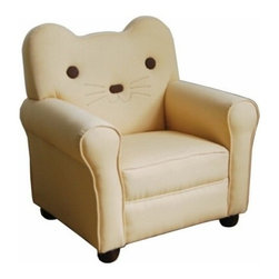 """ACMACM59030 - Kitty Yellow Fabric Upholstered Cat Shaped Kids Accent Side Chair - Kitty Yellow Fabric Upholstered Cat Shaped Kids Accent Side Chair. Measures 23"""" x 21"""" x 24""""H. Some assembly required."""