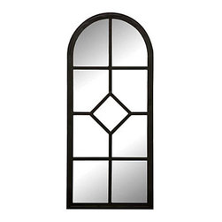 """Improvements - Decorative Acrylic Wall Mirror Panel-Set of 2 - The Decorative Acrylic Wall Mirrors are safe to use outdoors. These arched garden mirrors can be used together or separately. The Decorative Acrylic Wall Mirrors make small spaces seem larger. Use our shatterproof Decorative Acrylic Wall Mirrors to add depth and drama outdoors. With their graceful arched design and geometric panes, these Decorative Acrylic Wall Mirrors make a stunning statement in spaces small or large. Position the Decorative Acrylic Wall Mirrors on balconies, in gardens or courtyards to capture enchanting reflections from fountains, flowerbeds or statuary. Weather-safe and unbreakable, these outdoor mirrors are made of black metal with reflective acrylic. On the back of each Decorative Acrylic Wall Mirror is a keyhole for mounting. Use the Large Decorative Acrylic Wall Mirror (23-1/2""""W x 30-1/2""""H) by itself, or add the side panels for added impact.Benefits of the Decorative Acrylic Wall Mirror:"""